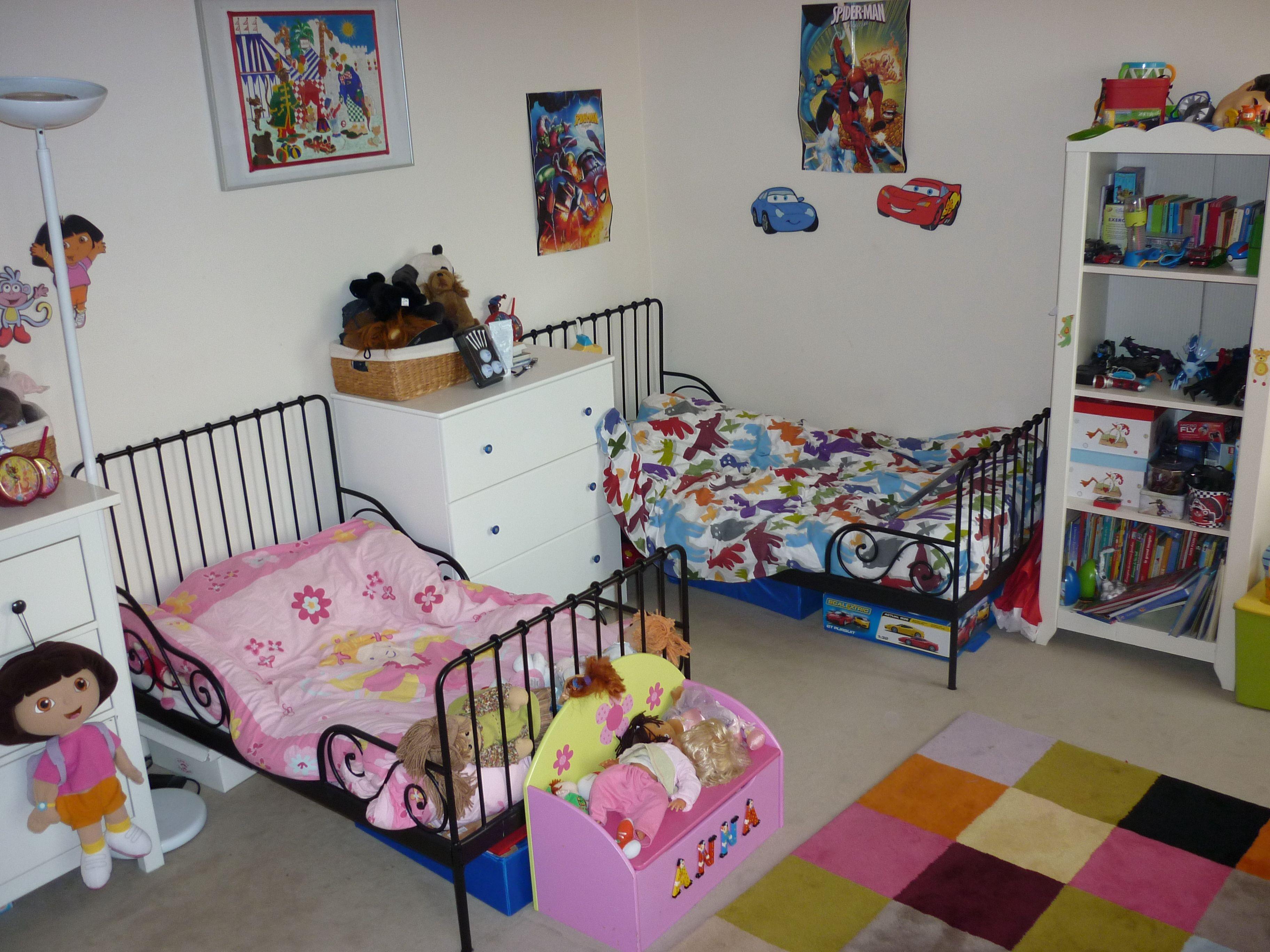 Une chambre deux enfants deux espaces La déco décodée