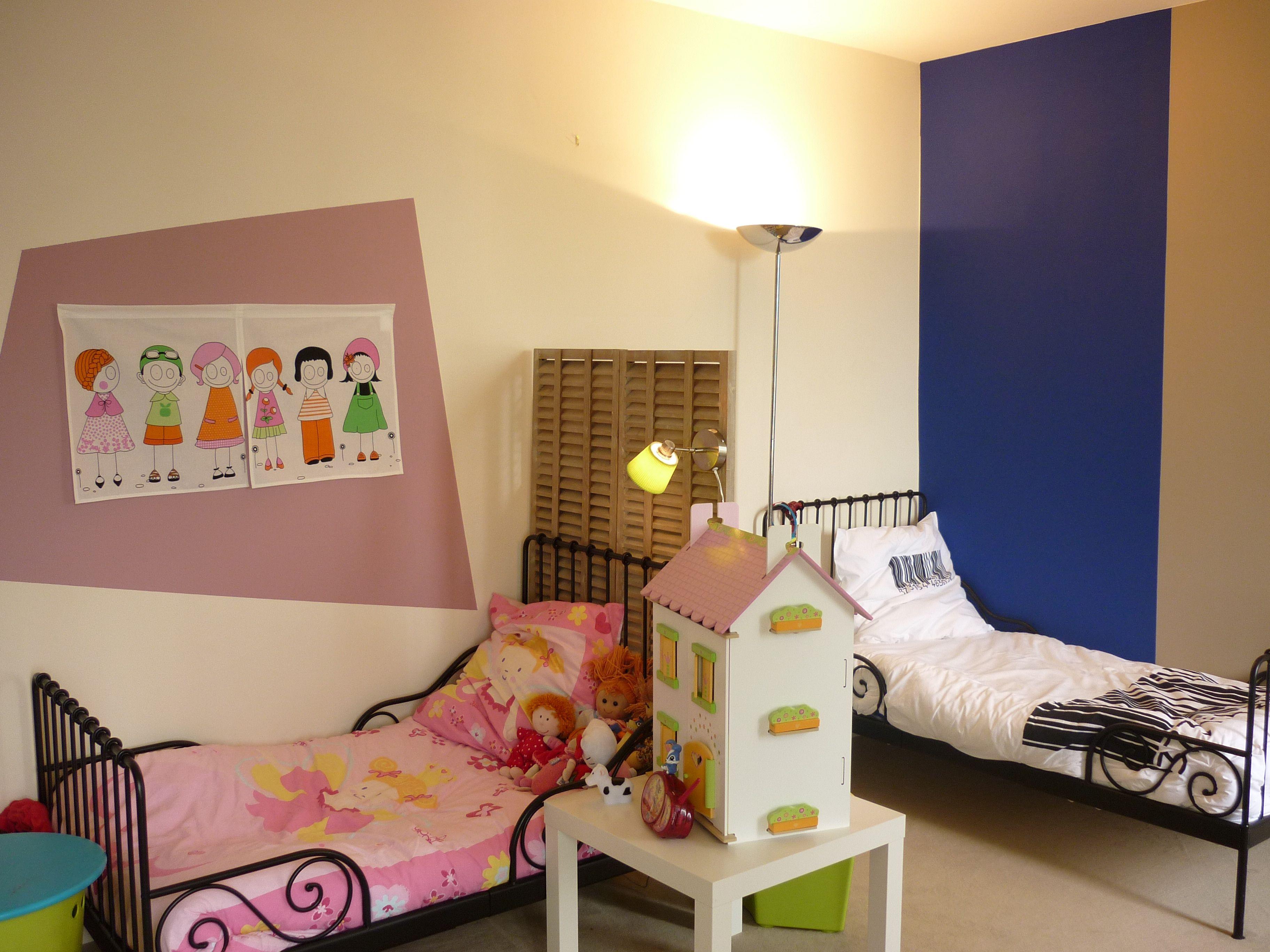 Chambre Chocolat Et Vert Anis une chambre, deux enfants, deux espaces - la déco décodée