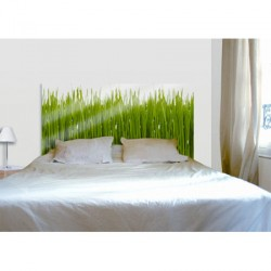 t te de lit originale impression herbe verte la d co. Black Bedroom Furniture Sets. Home Design Ideas