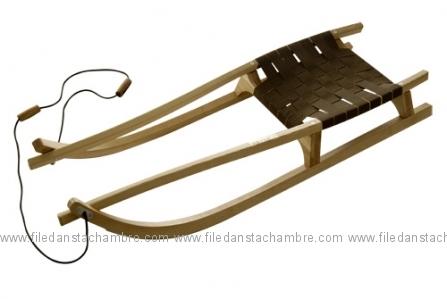 luge en bois l 39 ancienne la d co d cod e. Black Bedroom Furniture Sets. Home Design Ideas