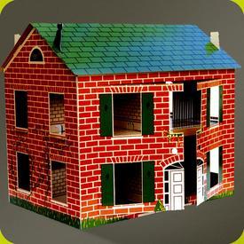 maison de poup es en carton petit collin la d co d cod e. Black Bedroom Furniture Sets. Home Design Ideas
