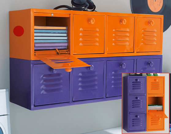 Des casiers m talliques pour tout ranger la d co d cod e - Petit meuble metallique ...