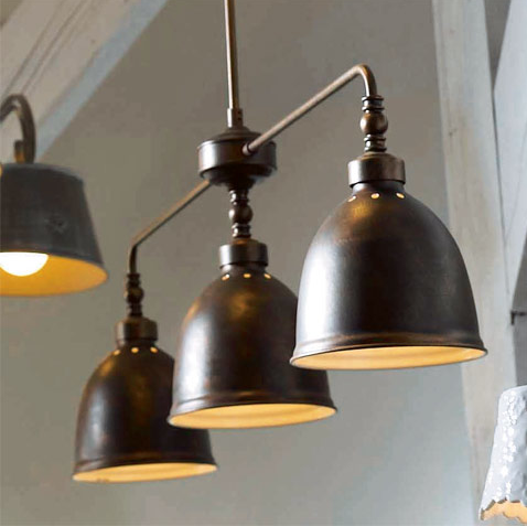 Luminaire suspension style industriel for Luminaire metal